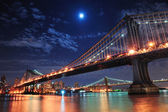 Bridges and Moon — Stock Photo