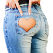 Stock Photo: Girl in jeans
