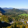 Hohenschwangau Castle and BavariAlps — Stock Photo #7286238