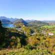Castle Hohenschwangau and Lake Alp — Stock Photo