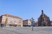 Hauptmarkt in Nuremberg, Germany — Stock Photo
