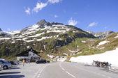 Przełęcz oberalp w szwajcarii. — Zdjęcie stockowe