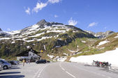 Oberalppas in zwitserland. — Stockfoto