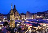 Christkindlesmarkt in Nuremberg, Germany — Stock Photo