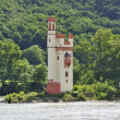 Mouse Tower near Bingen am Rhein — Stock Photo