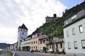 Town of St. Goarshausen and Katz Castle — Stock Photo