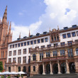 City Hall and Marktkirche in Wiesbaden, Germany — Stock Photo