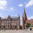 Marktplatz in Wiesbaden, Germany - Stock Photo
