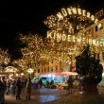 Christmas illuminations in Nuremberg, Germany — Stock Photo #7897314