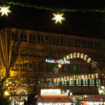 Christmas illuminations in Nuremberg, Germany — Stock Photo #7897318