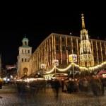 Christkindlesmarkt (Christmas market) in Nuremberg, Germany — Stock Photo