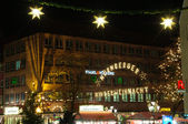 Christmas illuminations in Nuremberg, Germany — Stock Photo