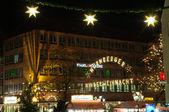 Christmas illuminations in Nuremberg, Germany — Stock Photo