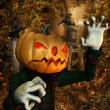Pumpkin Man — Stock Photo