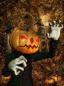 Pumpkin Man — Stock Photo