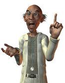 Doctor gritando con el dedo levantado — Foto de Stock