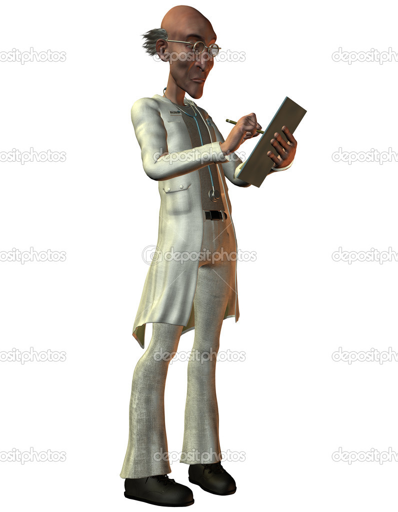 3D Rendering Doctor with medical record — Stock Photo #6828674
