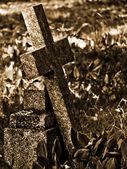 Croce di pietra — Foto Stock