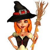 Little witch in portrait — Stock Photo
