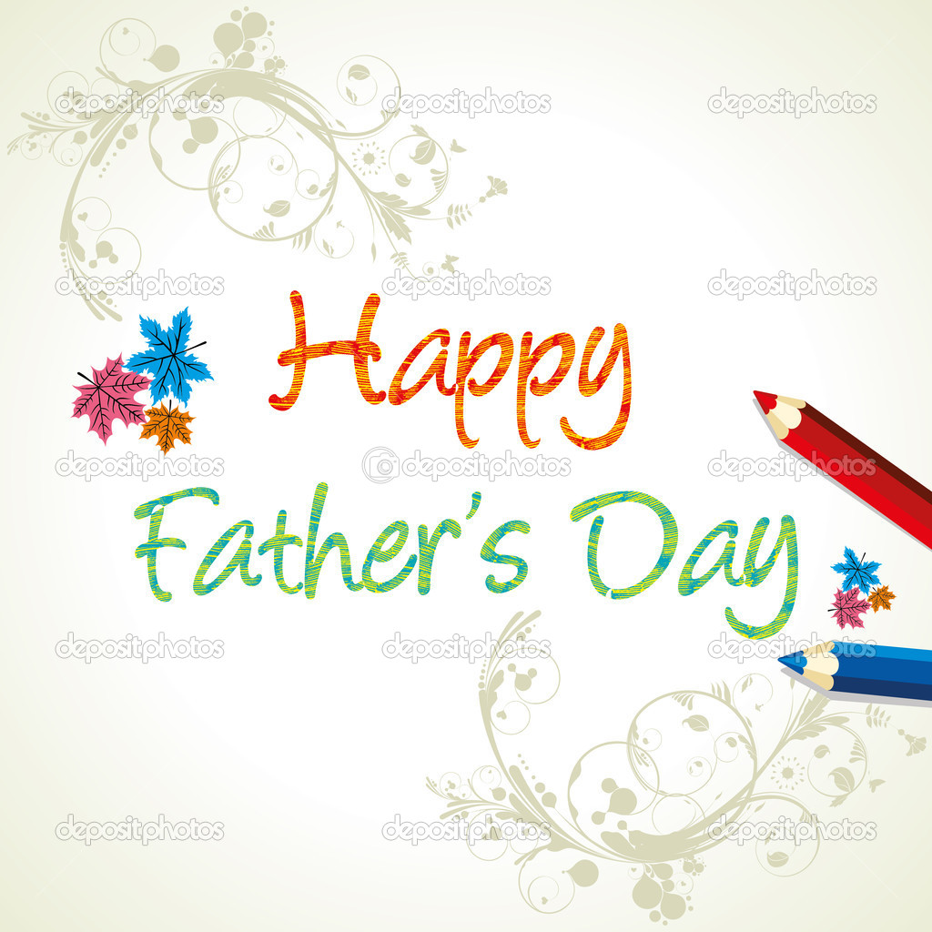 Happy father day greeting card — Stock Vector #6829247