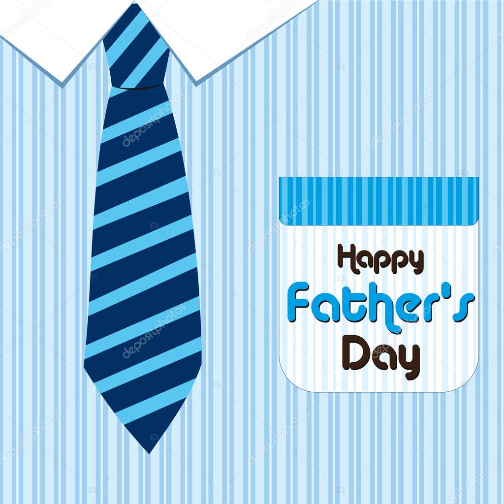 Happy father day greeting card with neck tie — Imagen vectorial #6829289