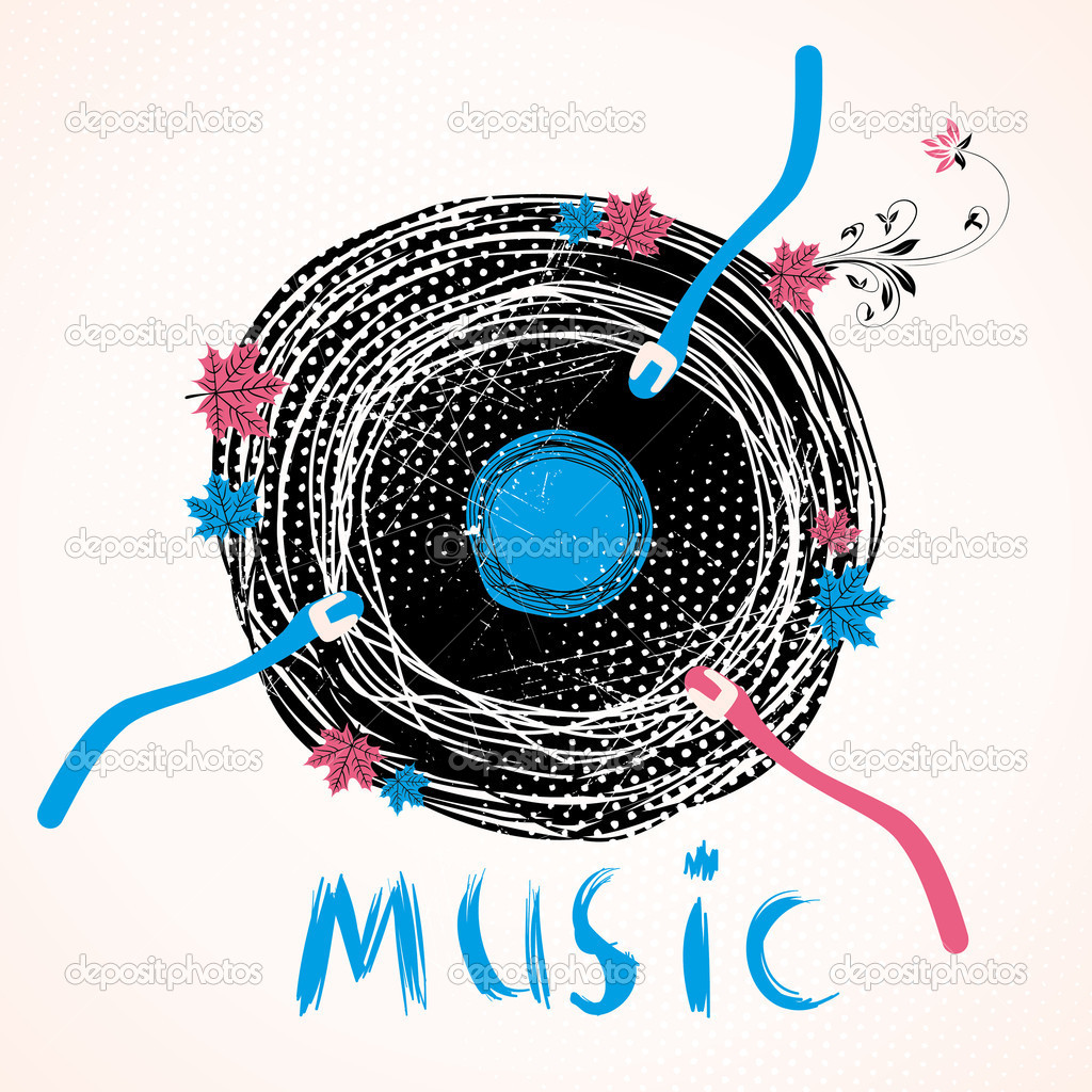 Musical retro disc — Stock Vector #6829370