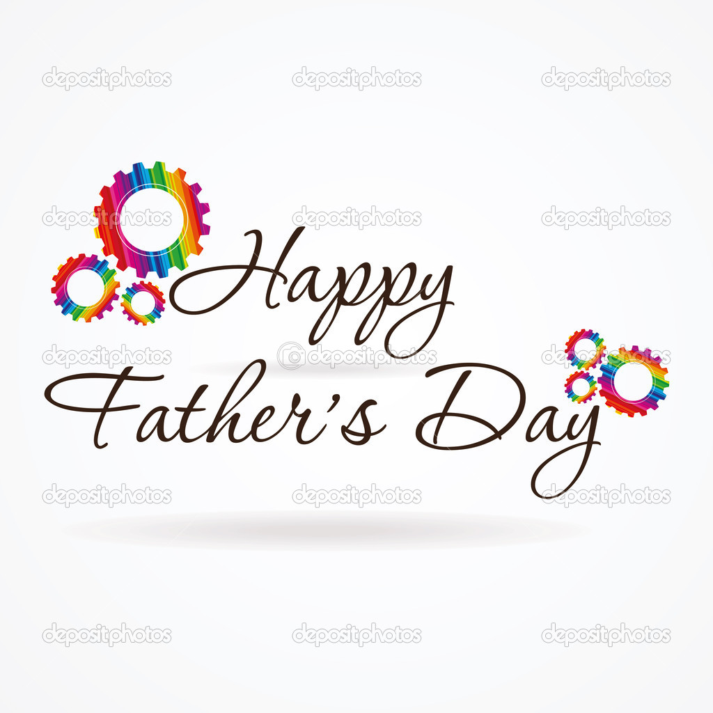 Writing creative style if father day greeting  Stock Vector #7388556