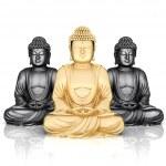 Gold statue of Buddha — Stock Photo #6842514