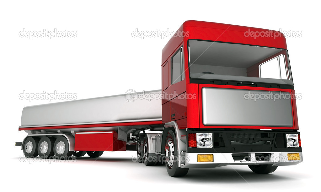 Image truck with cargo on a white background — Stock Photo #6842704