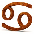 Wooden zodiac sign — Stock Photo