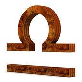 Wooden zodiac sign — Stock Photo
