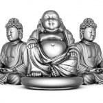 Silver statue of Buddha — Stock Photo #7148980
