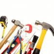 Varied tools on plain background. Copy space — Stock Photo #6908367