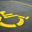 Handicapped symbol — Stock Photo #7410451