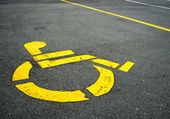 Handicapped symbol — Stock Photo