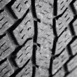 Closeup of rubber tire tread pattern — стоковое фото #7456943
