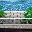 Pool under terrace - Stock Photo