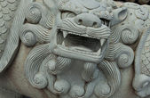 Stone dragon closeup in Thailand — Stock Photo