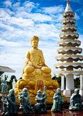 Buddyjski rzeźba rysunek, guanyin bodhisattwy — Zdjęcie stockowe