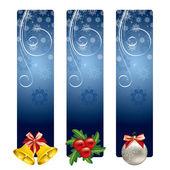 Christmas Banners. Vector Illustration. — Stock Vector