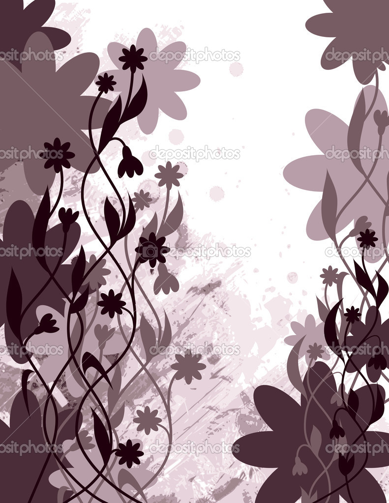 Vector Background. Floral Illustration. — Stock Vector #7149119