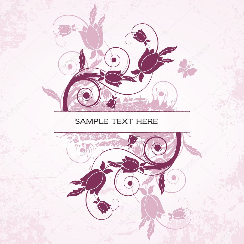 Vector Banner. Floral Illustration. — Stock Vector #7149222
