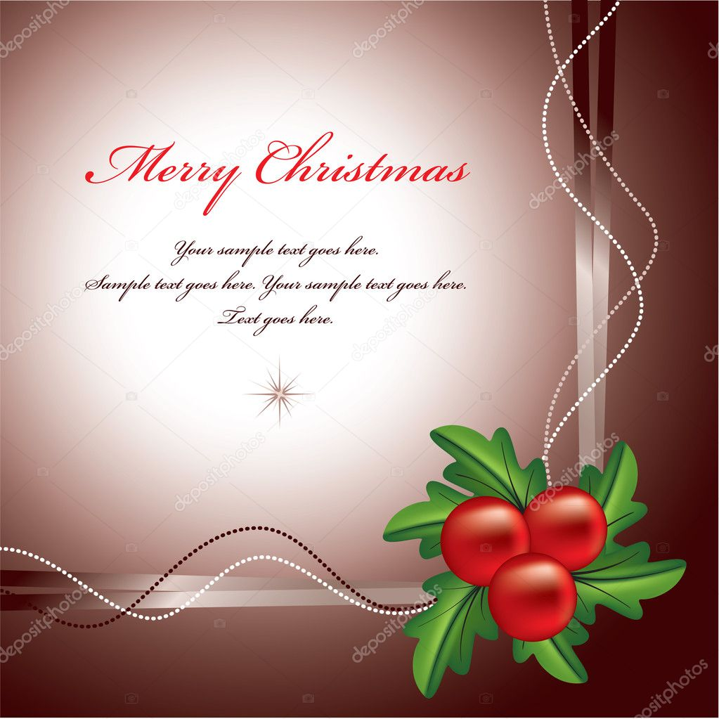 Christmas Background. Vector Illustration.  — Stock Vector #7149228