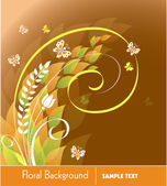 Floral Background. Vector Illustration. — Stock Vector