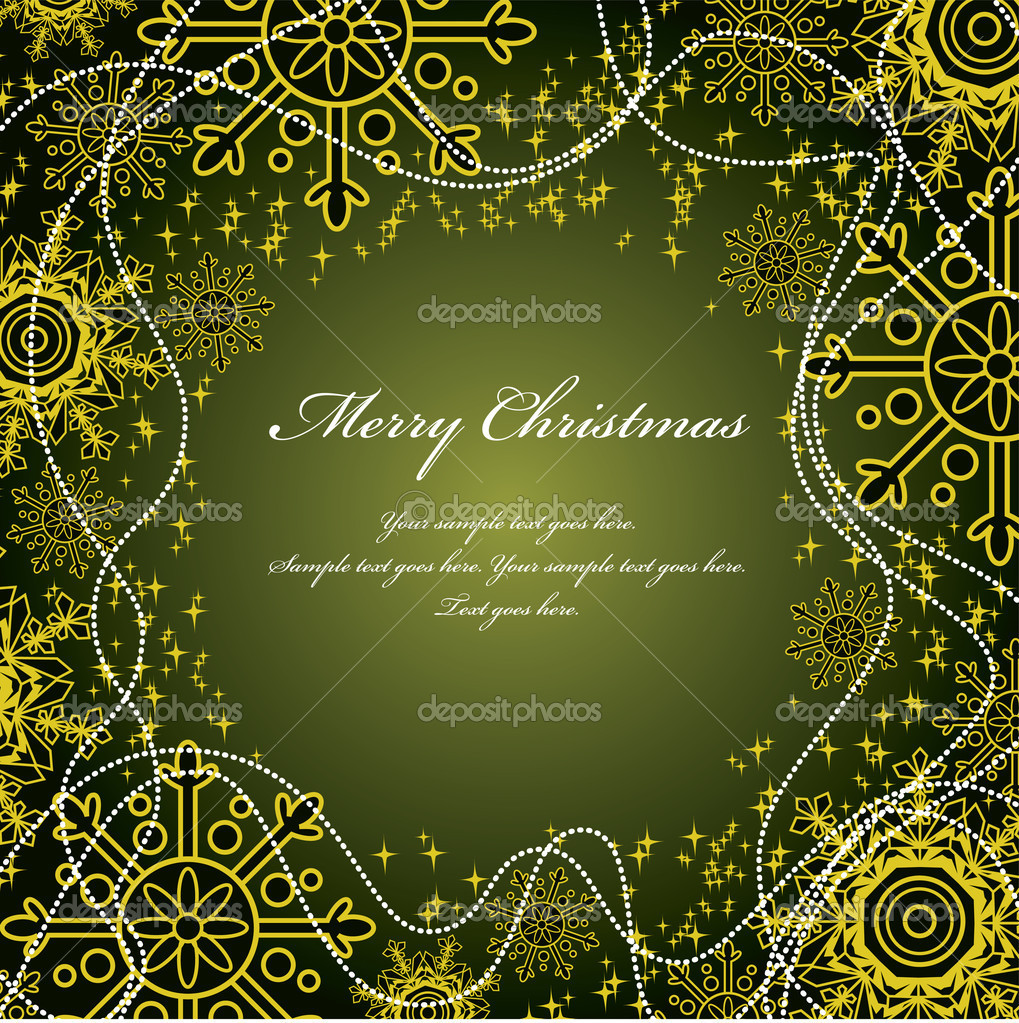 Christmas Background. Vector Illustration. — Stock Vector #7546278