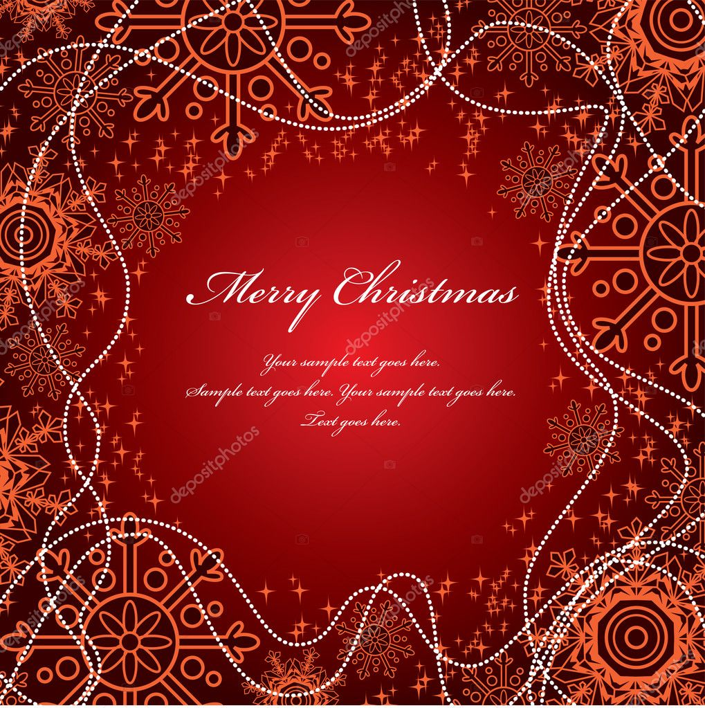 Christmas Background. Vector Illustration. — Stock Vector #7546281