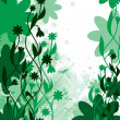 Abstract Floral Background. Vector Illustration. — Imagens vectoriais em stock