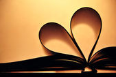 Heart in book — Stock Photo