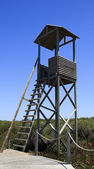 A wood observation tower — Stock Photo