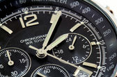Close up of a black watch — Stock Photo